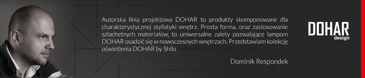 Kolekcja DOHAR projektant Dominik Respondek